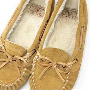 Lucky Brand | Suede Tuscany Moccasin Slippers